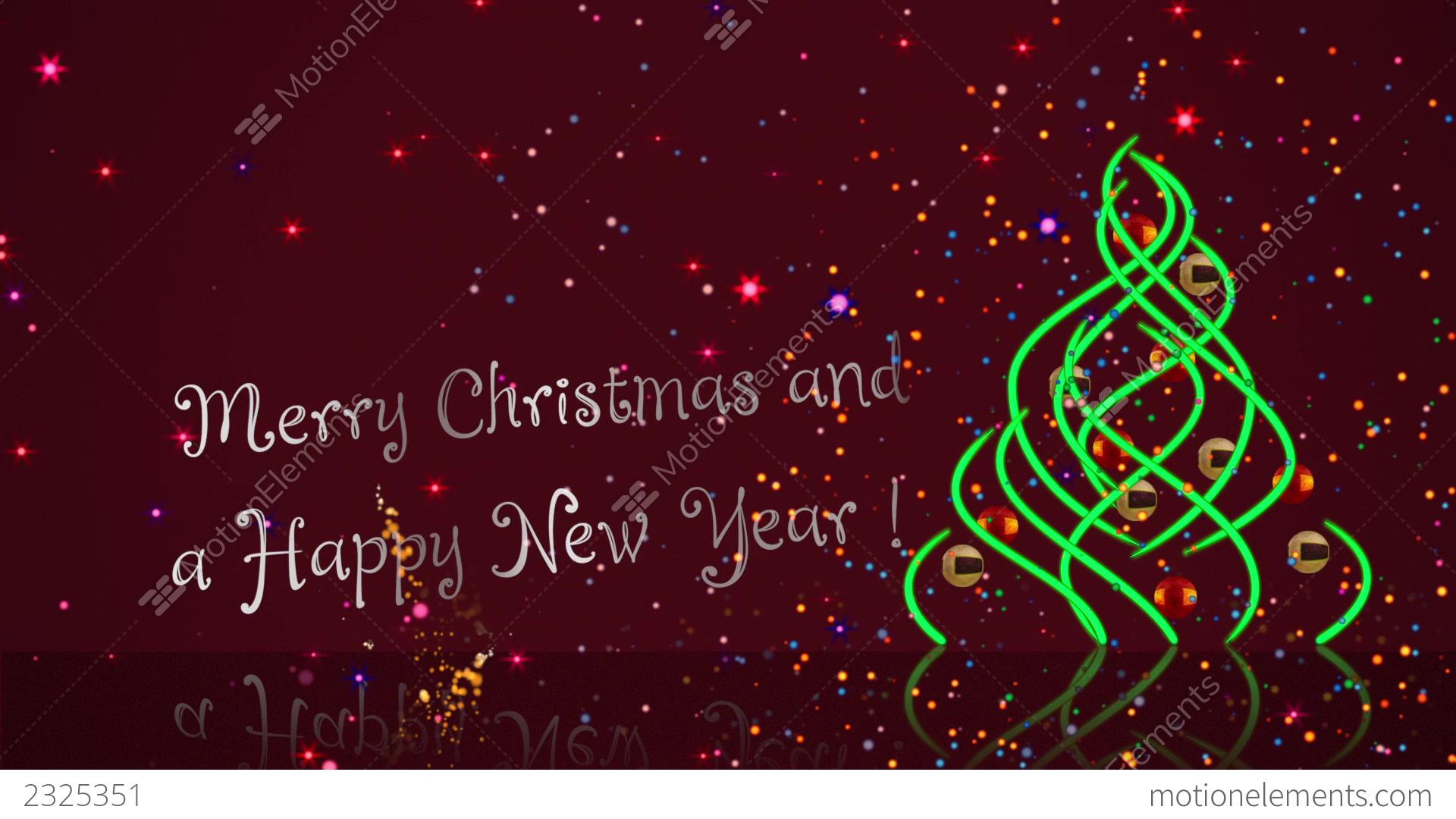 Happy New Year Postcard Youtube HD Stock Animation | 2325351
