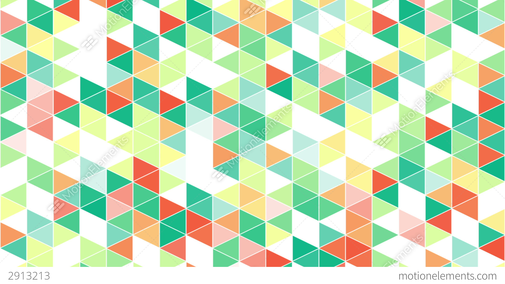 Free Colorful Geometric Wallpaper: Colorful Triangles Geometric Background Loop Stock
