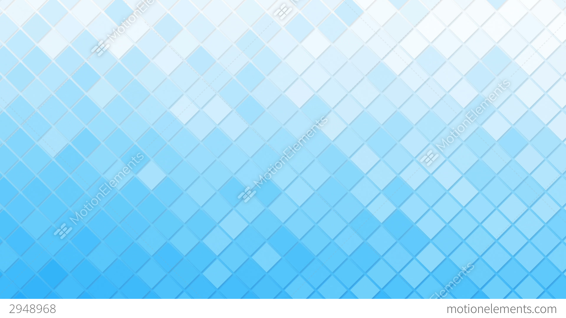 White Blue Rhomb Mosaic Tile Loopable Background Stock