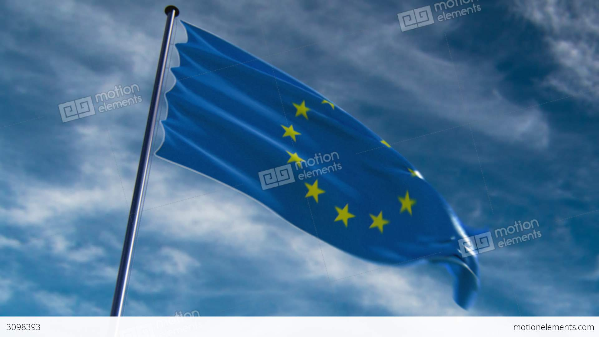 eu flag hq animated on an epic background stock animation 3098393