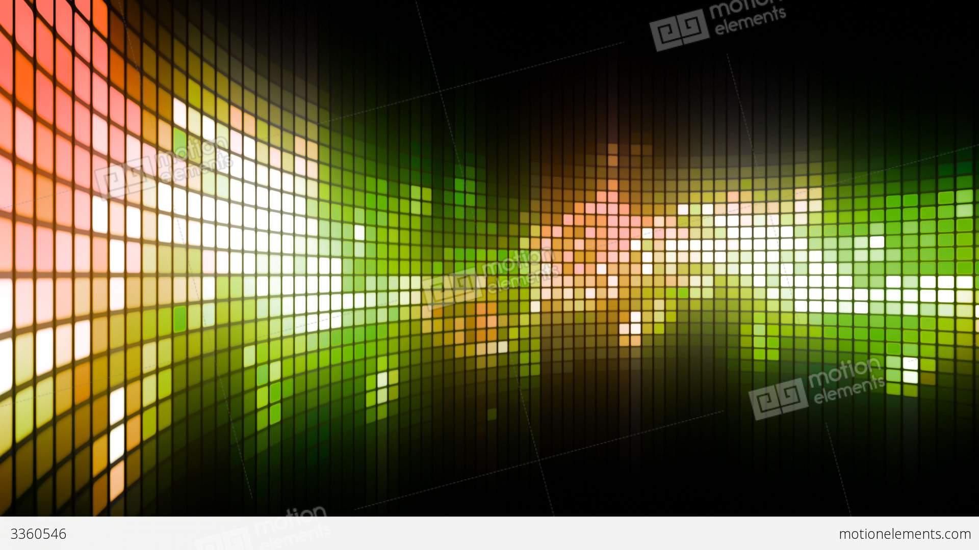 Green Led Dance Lights Wall Stock Animation 3360546