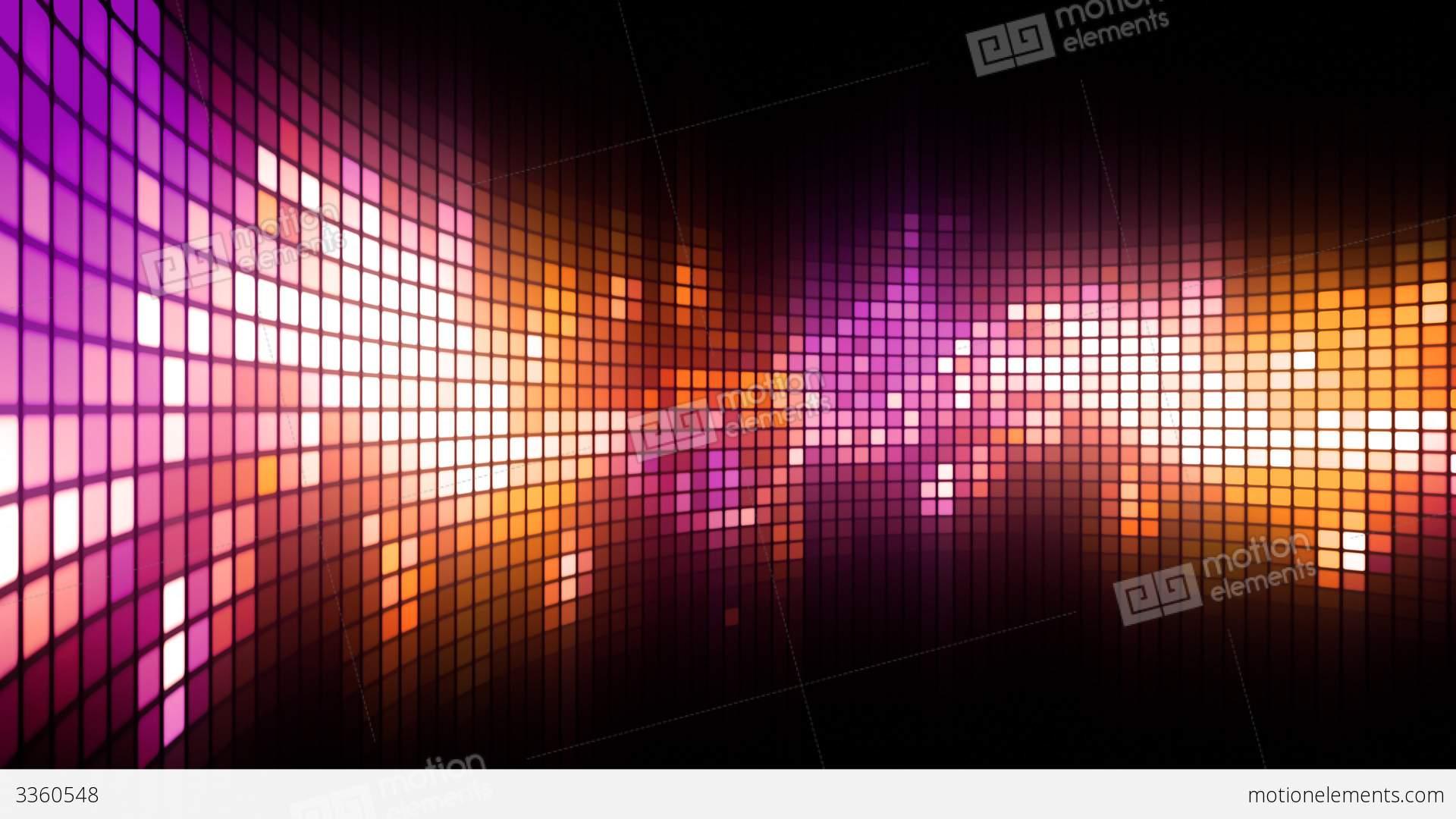 Magenta Led Dance Lights Wall Stock Animation 3360548