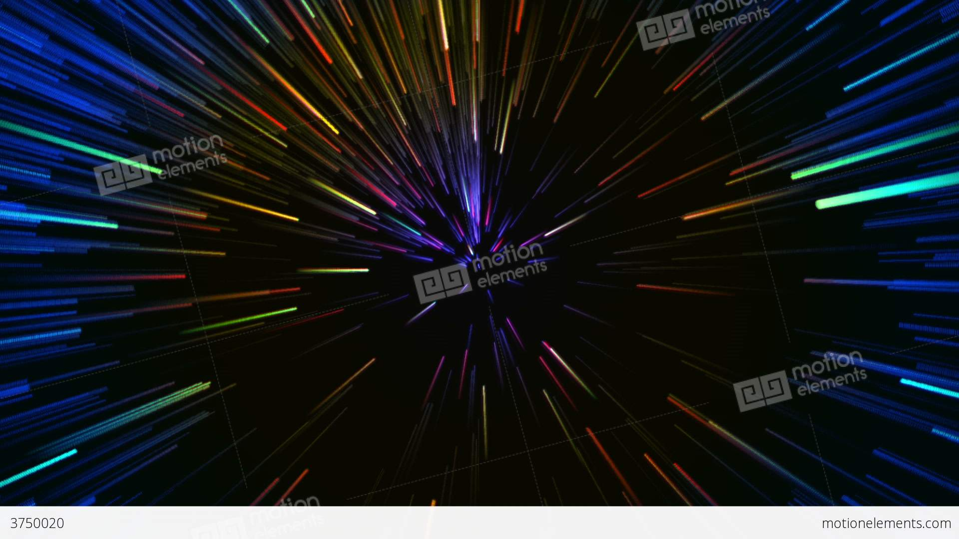 Hyperspace Motion Background Stock Animation 3750020