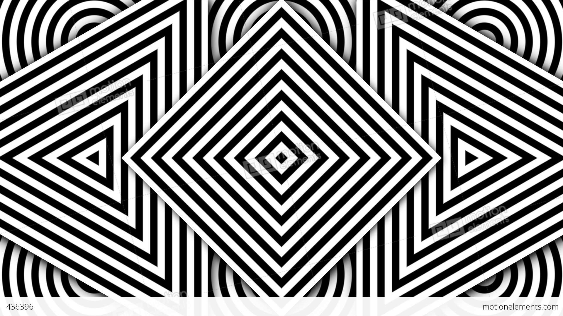 Hypnotic Black And White Shapes Stock Animation | 436396