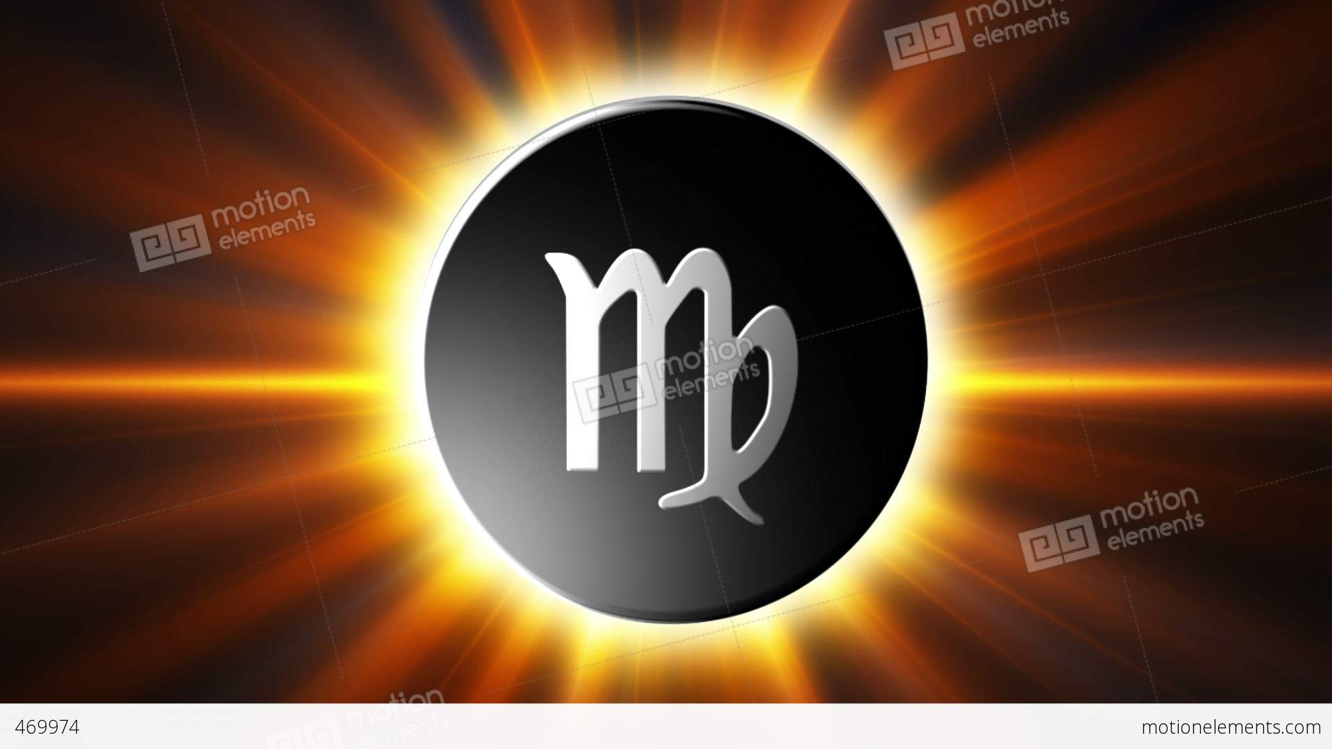 virgo zodiac sign loop stock animation 469974