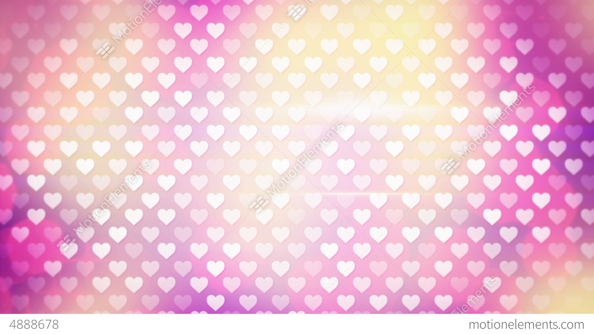 Polka Dot Hearts Loopable Background Stock Animation