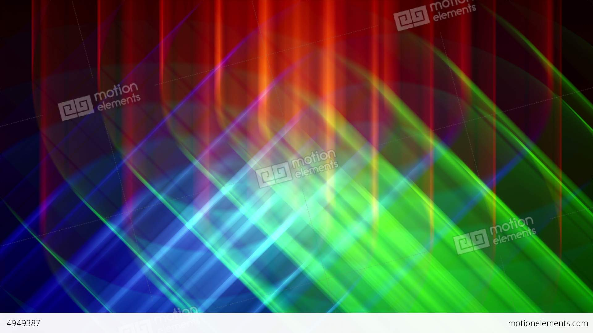 4K Prismatic RGB tri star abstract background 2 Stock Video Footage