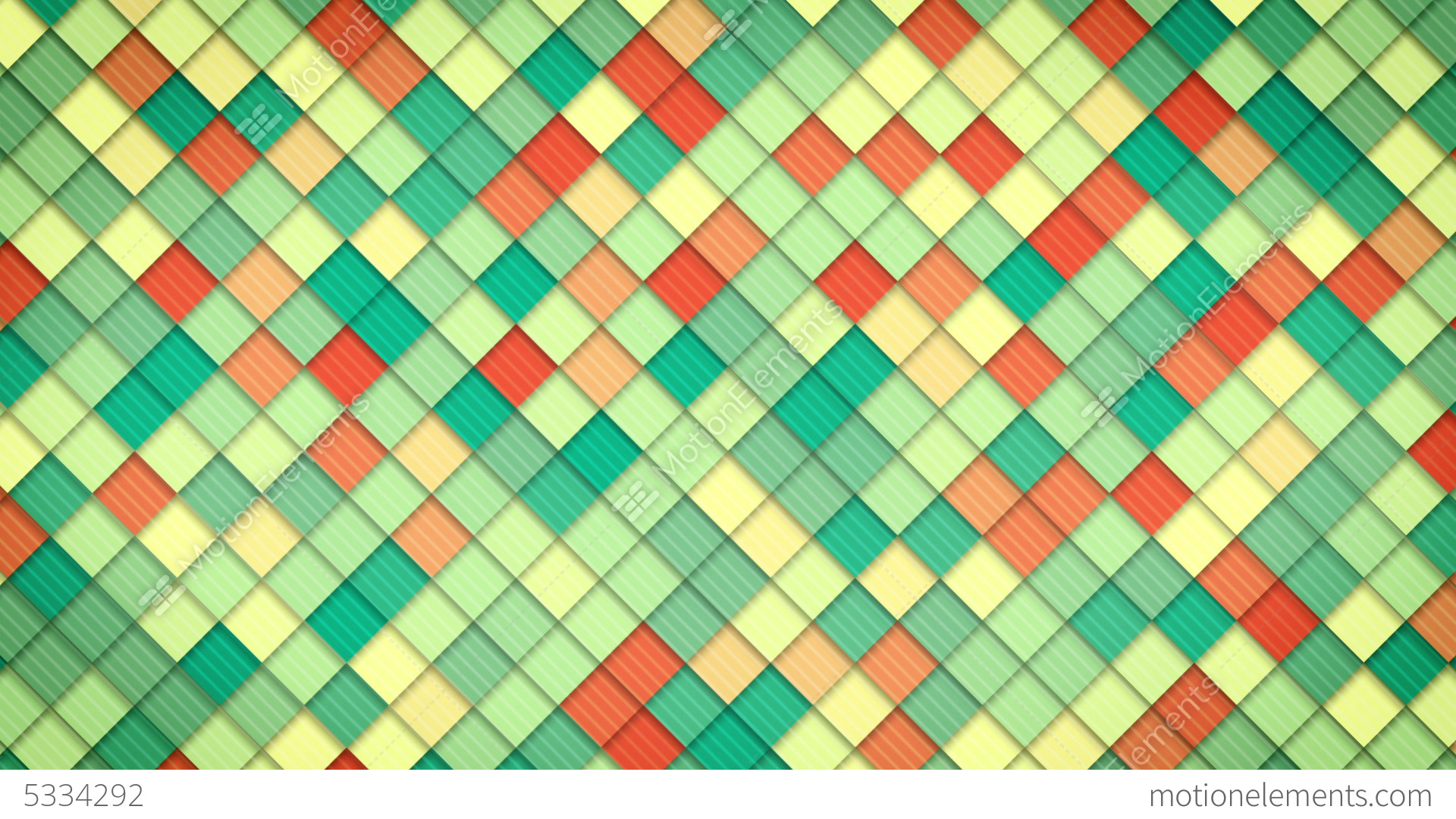 Aninimal Book: Geometric Pattern Of Colorful Squares Loop Stock Animation | 5334292