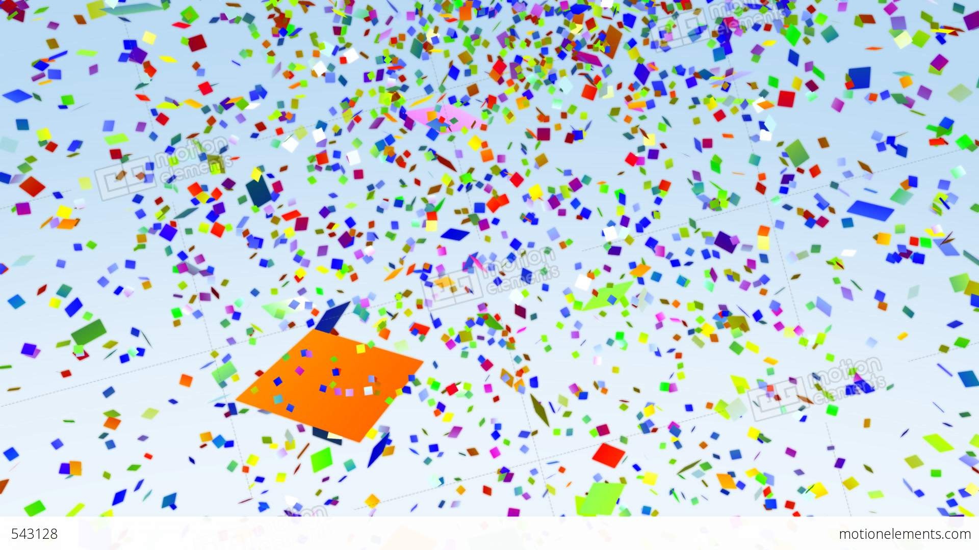 Color Paper Confetti Falling Loop Stock Animation | 543128