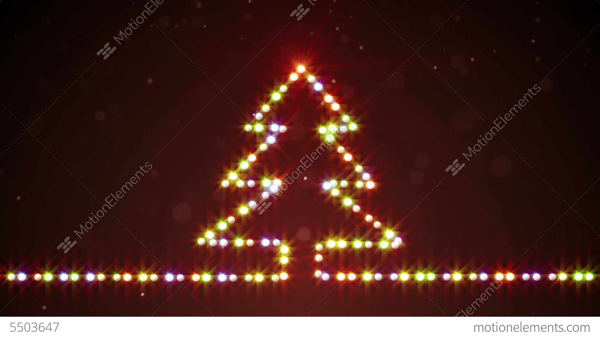 Exceptional Christmas Tree Shape Lights Loopable Stock Video Footage