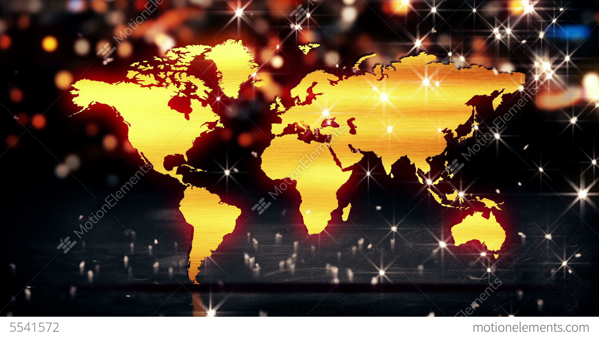 World map gold city light shine bokeh 3d backgroun stock animation world map gold city light shine bokeh 3d backgroun stock video footage gumiabroncs Gallery