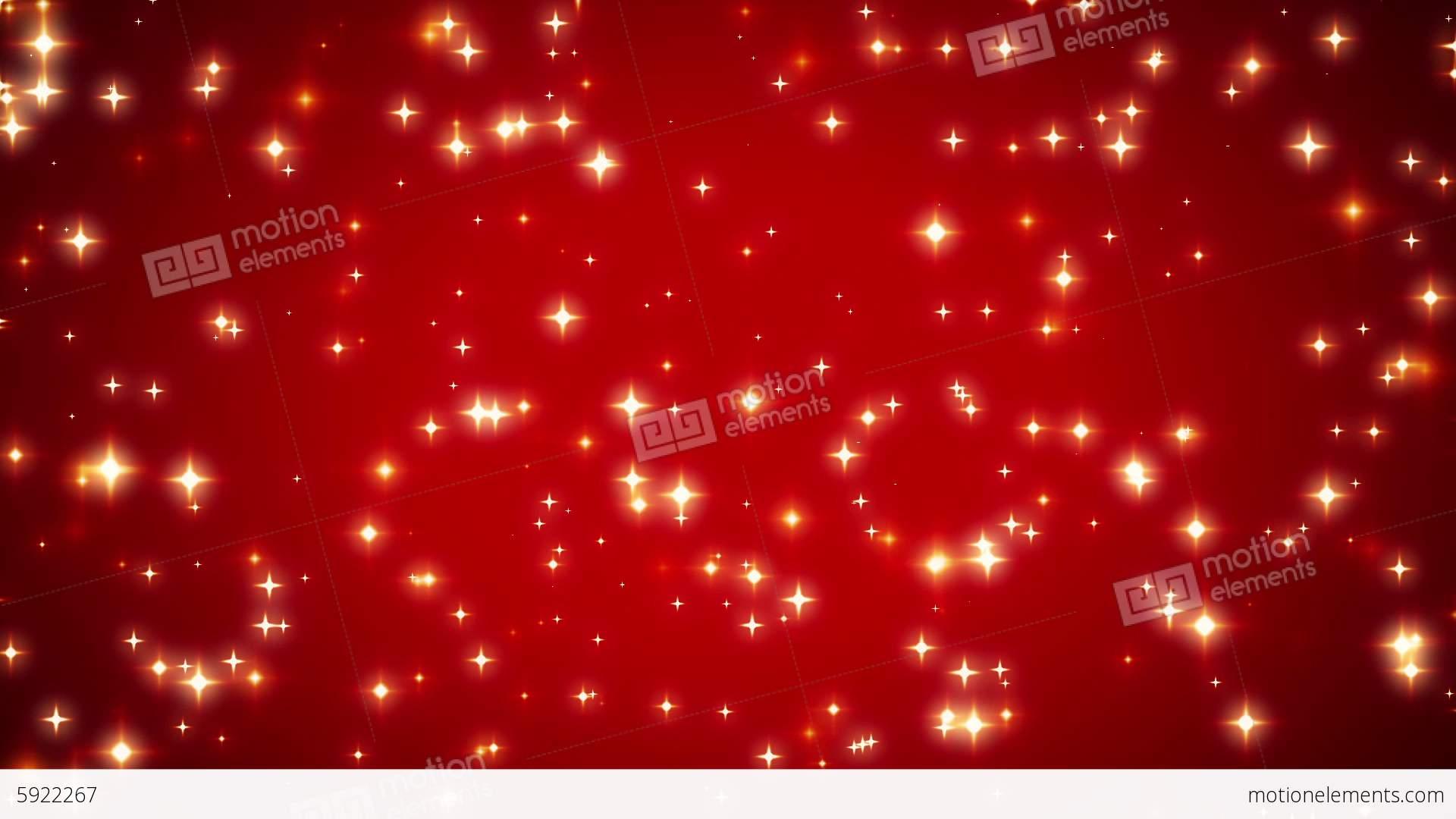 Red Stars Background Warm Sparkling ...
