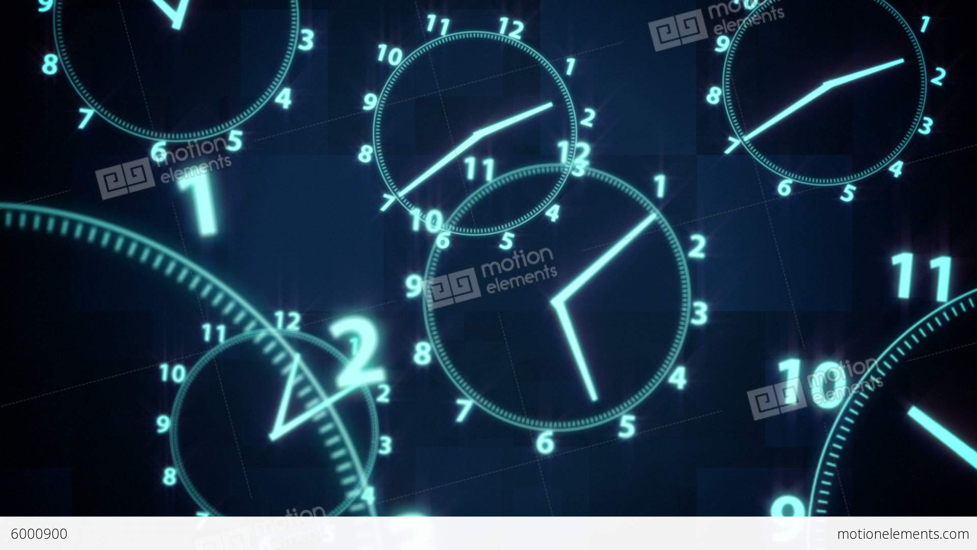 Clock Time Illusion Background Stock Animation | Royalty-Free Stock ...
