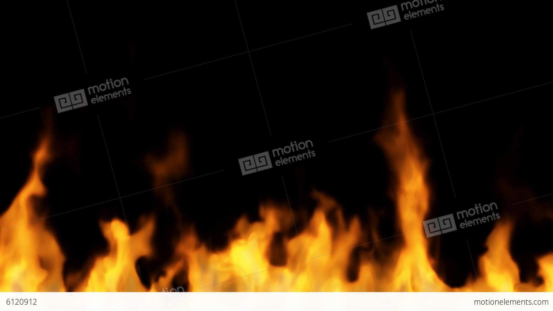 fire on black background high temperature burnin stock animation