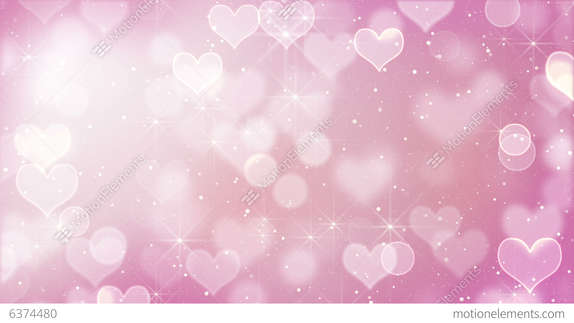 Bokeh Heart Shape Of Light Background Stock Footage Video: Pink Heart Bokeh Lights And Stars Loopable Stock Animation