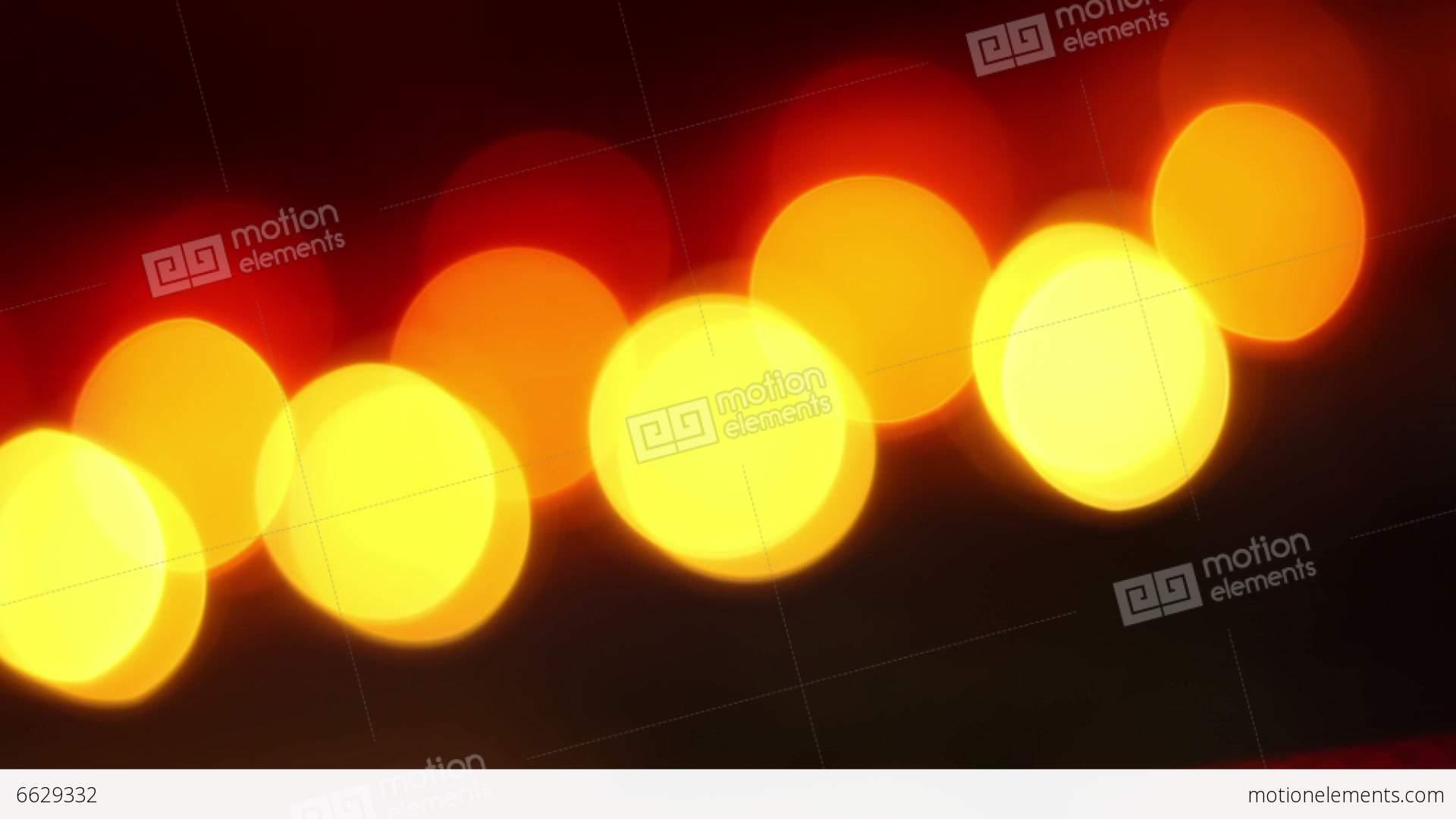 Pulsating Warm Lights Bokeh Stock video footage