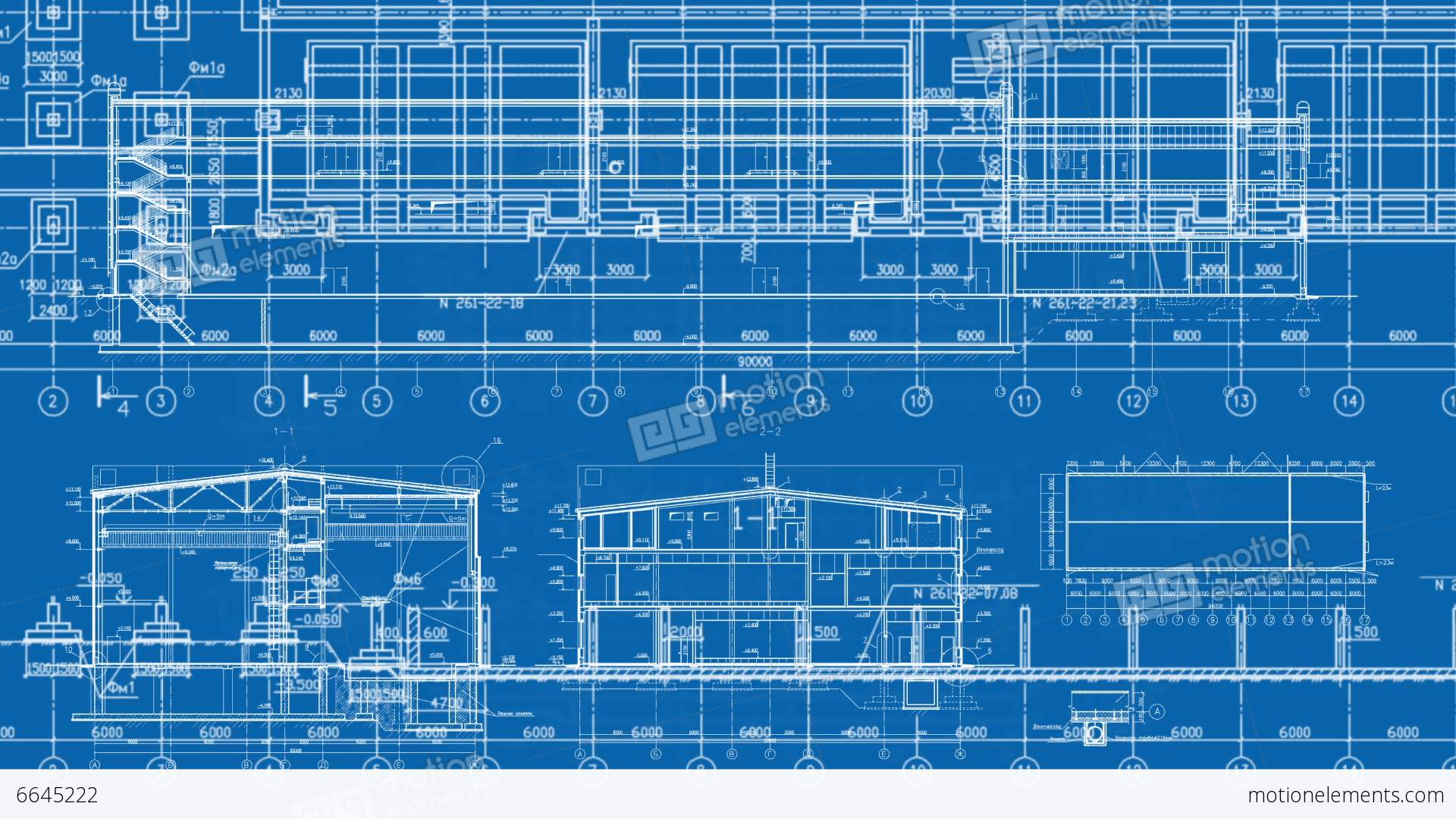 Construction drawings background blue print banco de vdeos 6645222 construction drawings background blue print videos de stock malvernweather Image collections