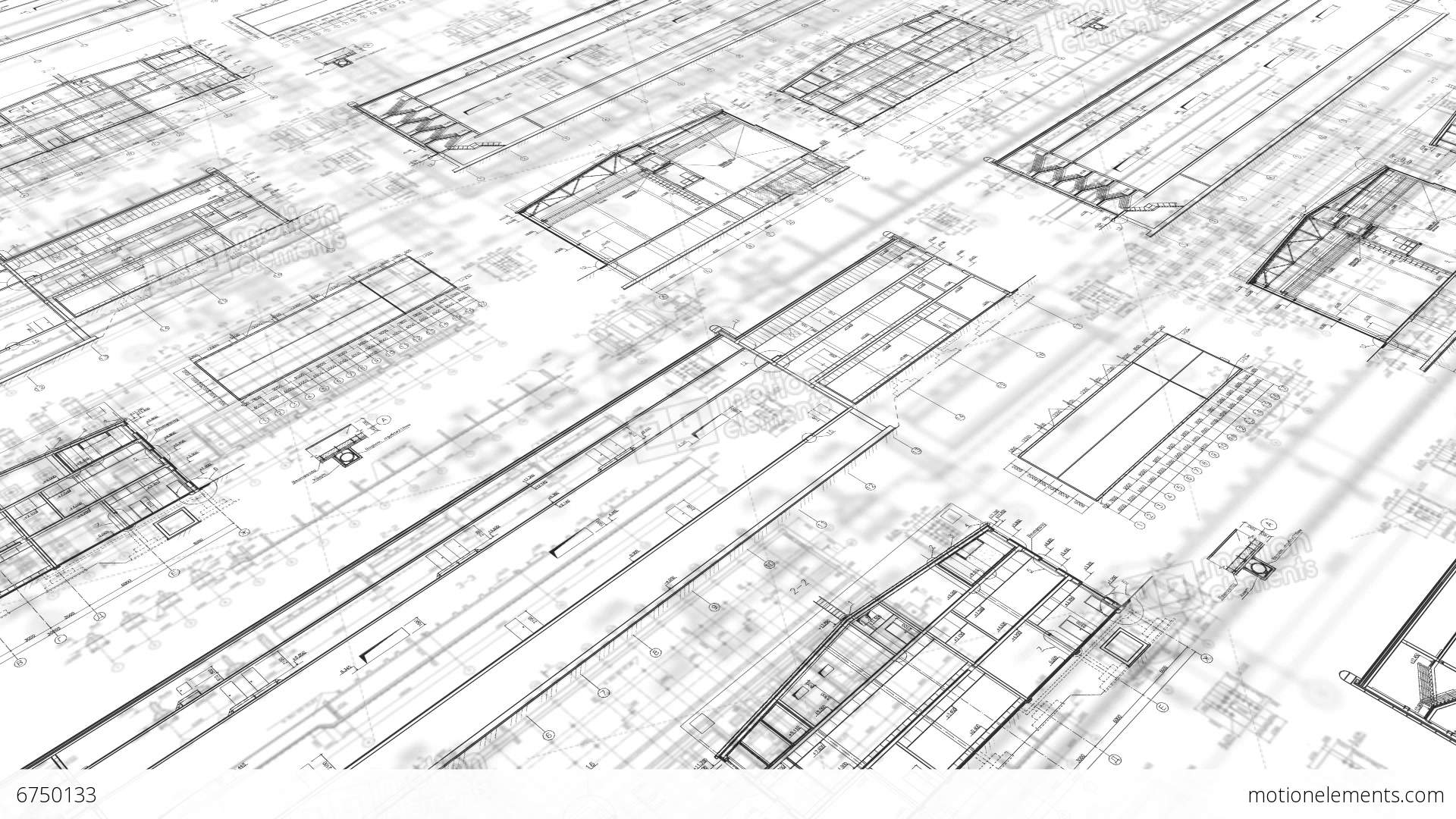 25fps construction drawings perspective 3 white stock for Construction drawing