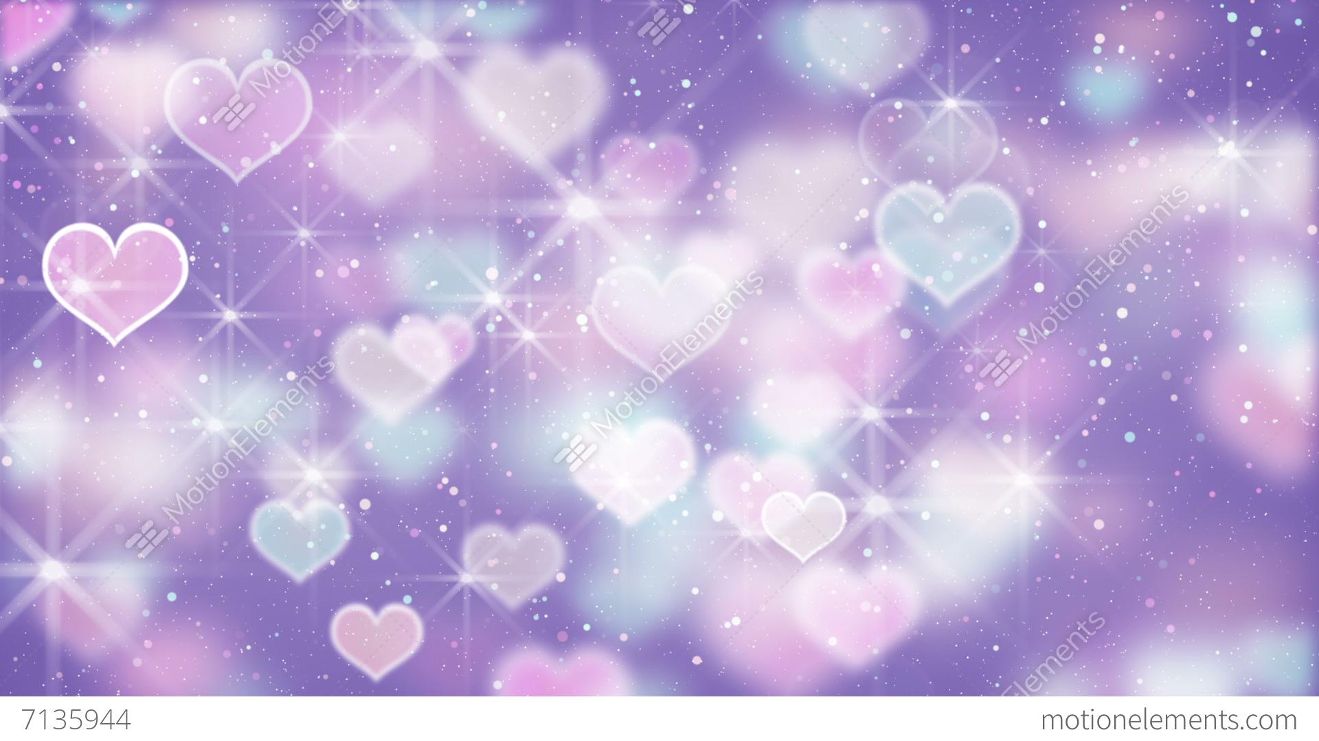 Bokeh Heart Shape Of Light Background Stock Footage Video: Elegant Color Hearts Bokeh Lights Loopable Background