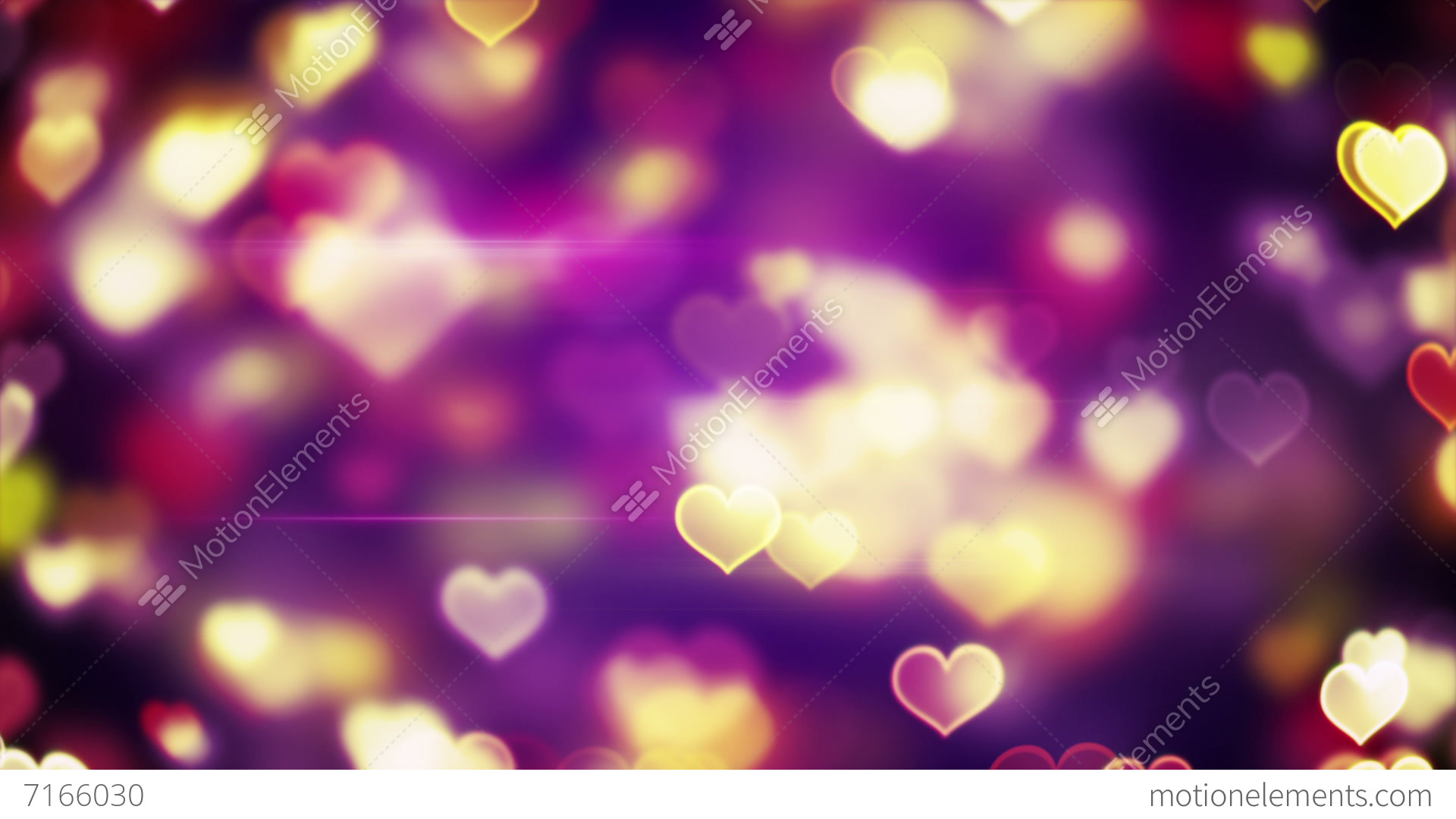 Bokeh Heart Shape Of Light Background Stock Footage Video: Glowing Heart Shapes Bokeh Lights Loopable Background