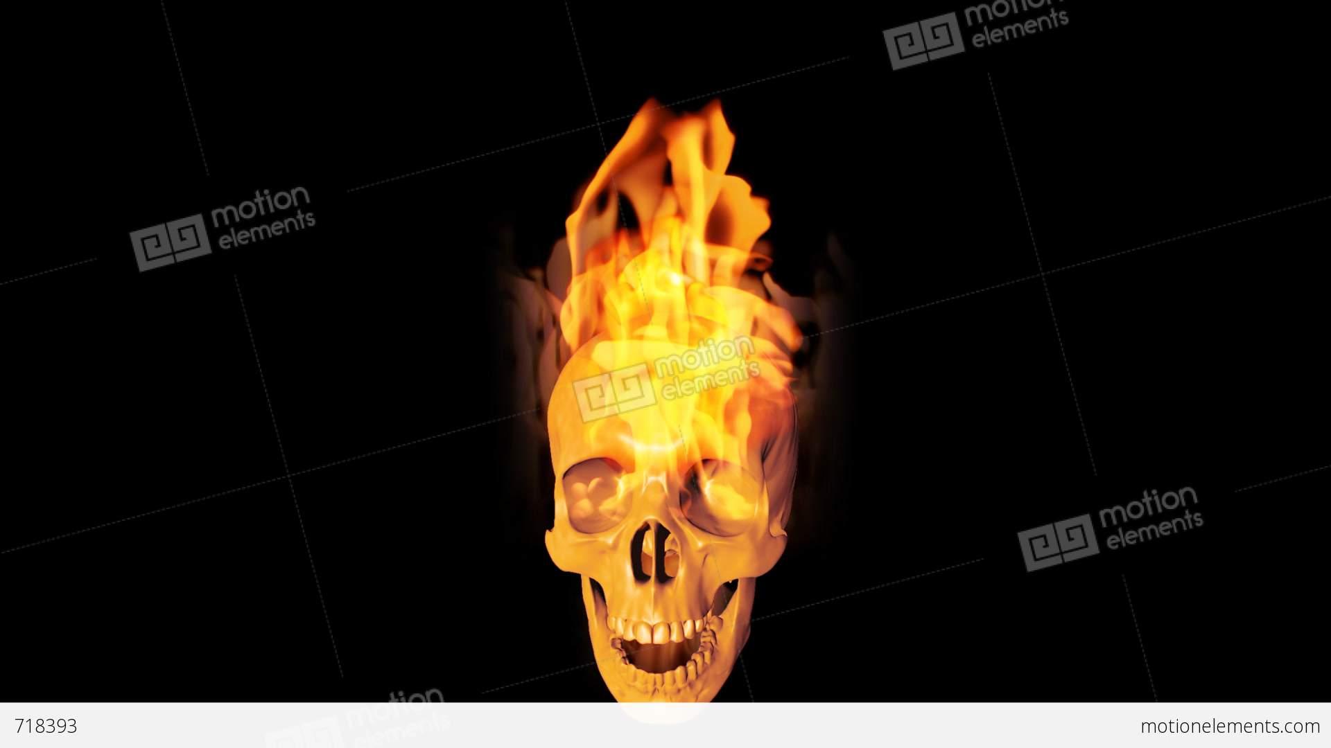 Skull on fire stock animation 718393 skull on fire stock video footage voltagebd Choice Image