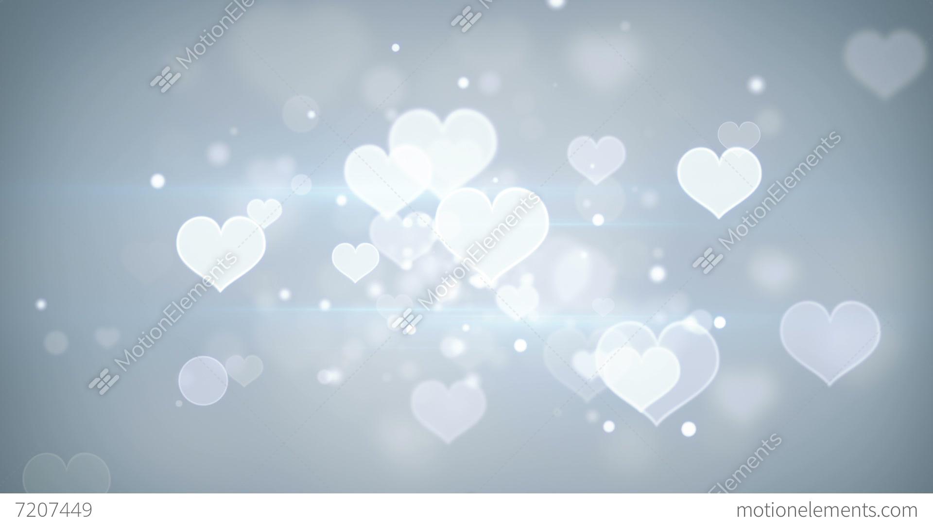 Bokeh Heart Shape Of Light Background Stock Footage Video: Heart Shapes Bokeh Loopable Romantic Background Stock