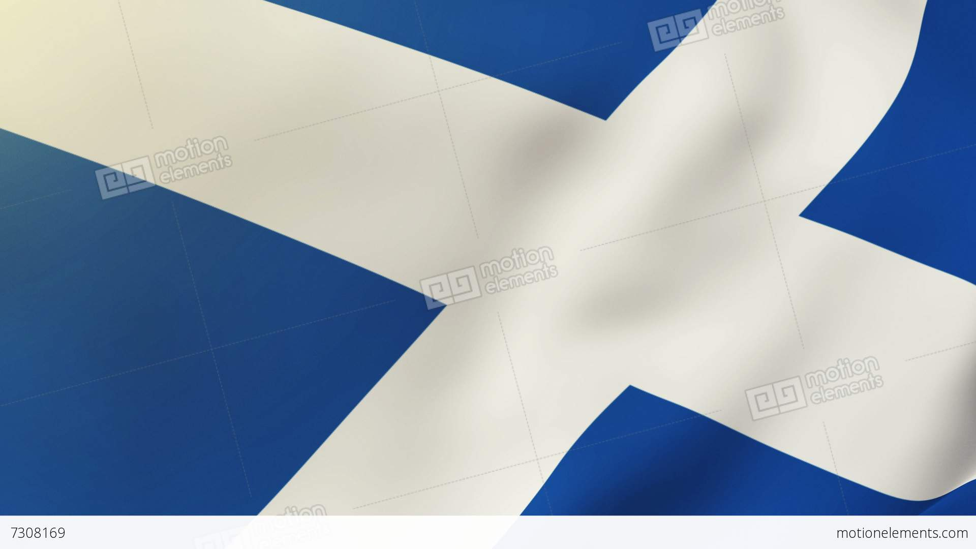 scotland flag waving in the wind looping sun rises style
