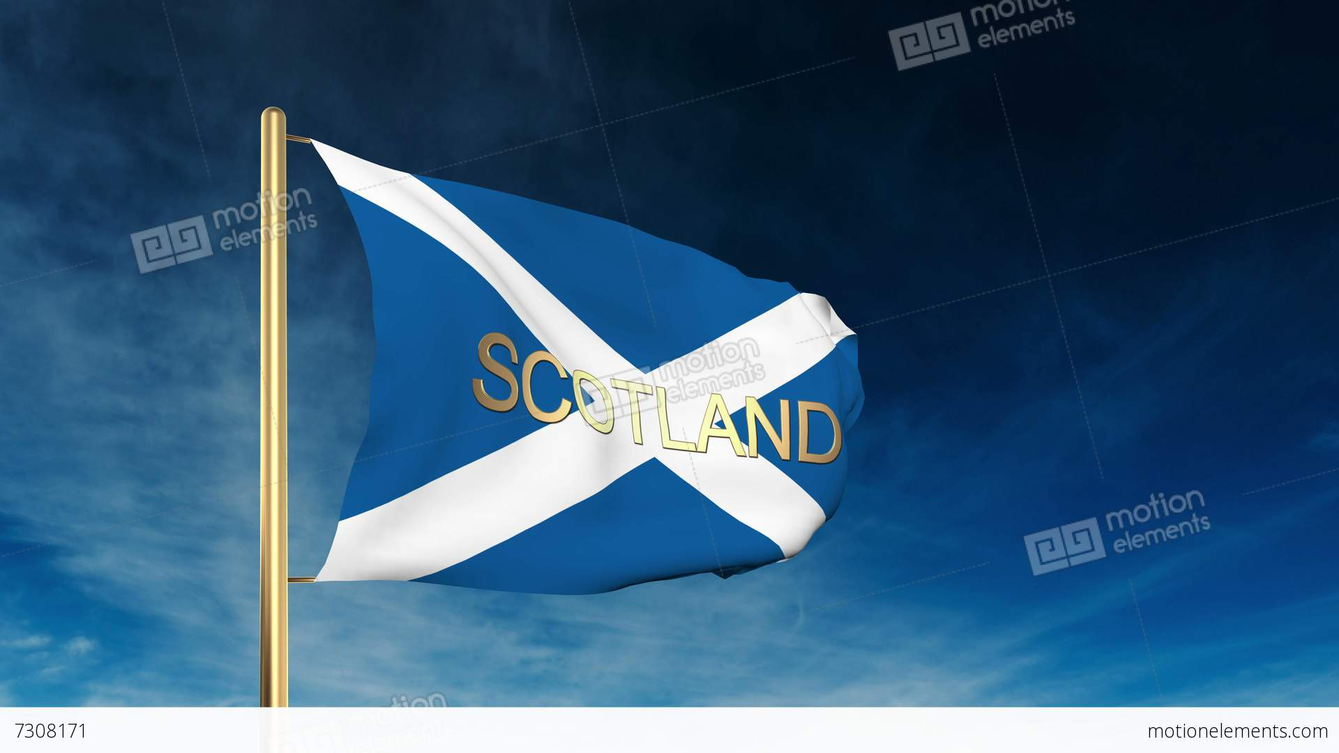 Scotland flag slider style with title waving in the wind with scotland flag slider style with title waving in the wind stock video biocorpaavc Choice Image