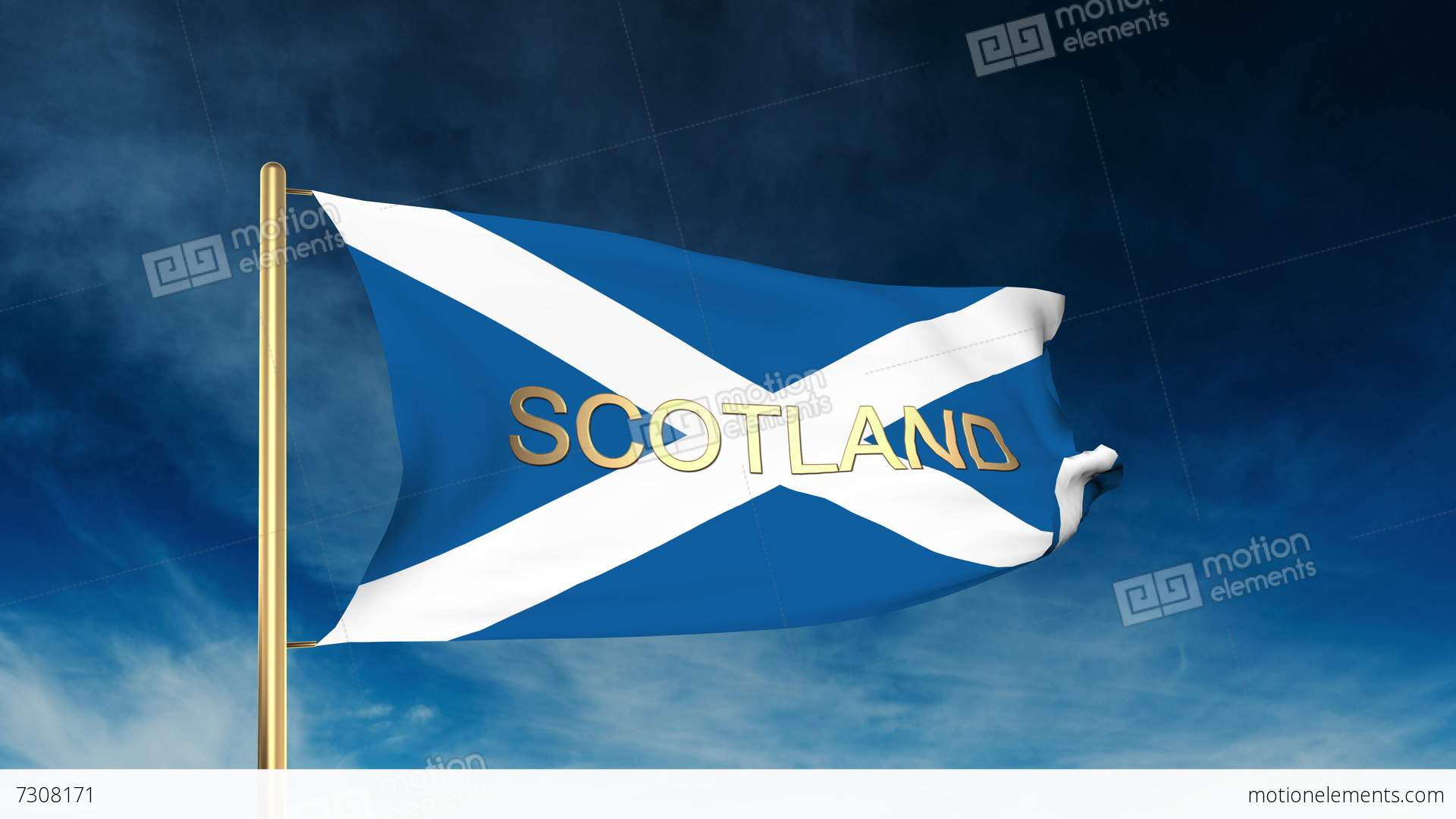 <b>Scottish Saltire Flag</b> Of <b>Scotland</b> Animation 1080p HD - YouTube
