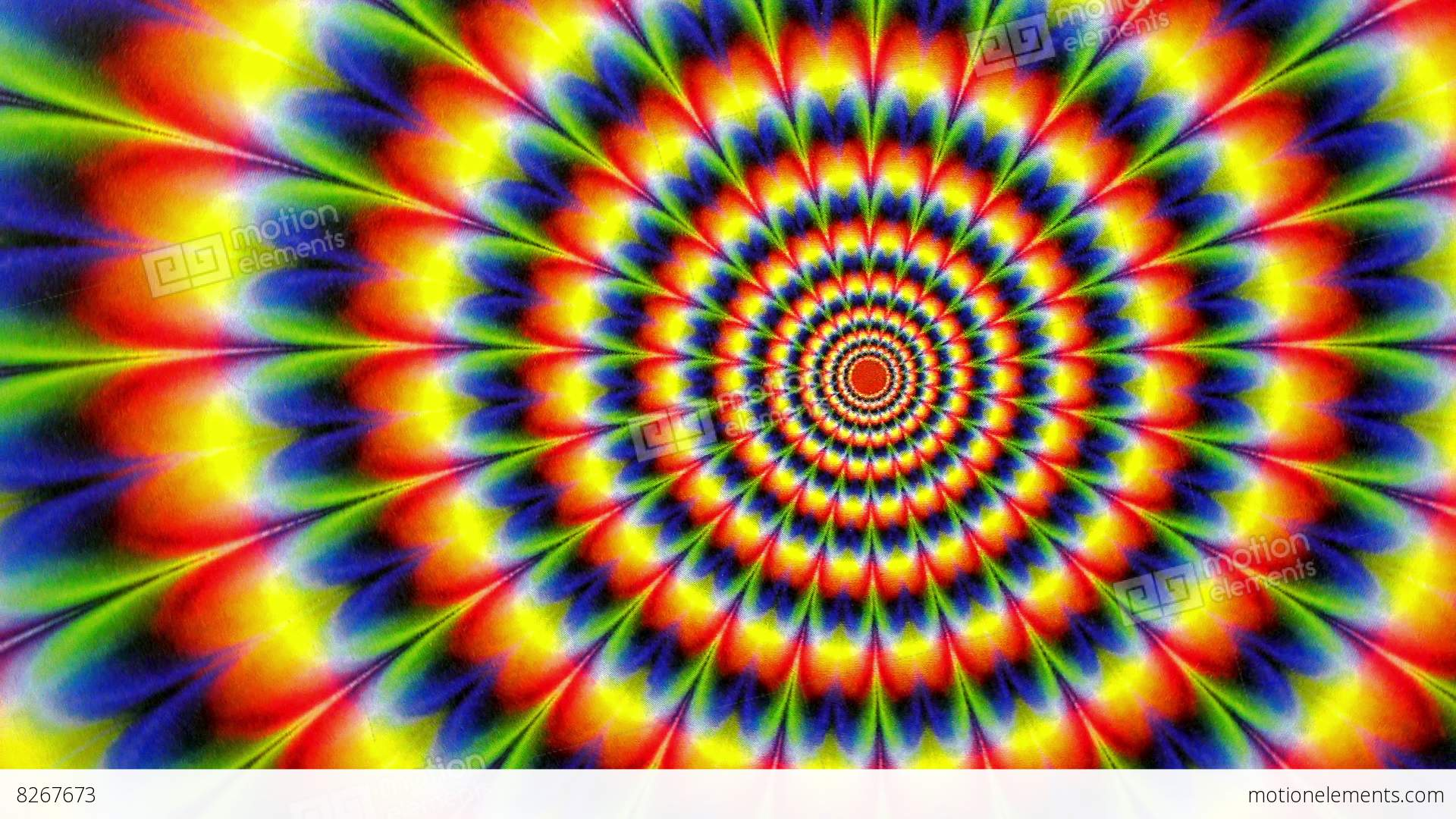 Hippy Tie Dyed Radial Pattern Animation Background Stock