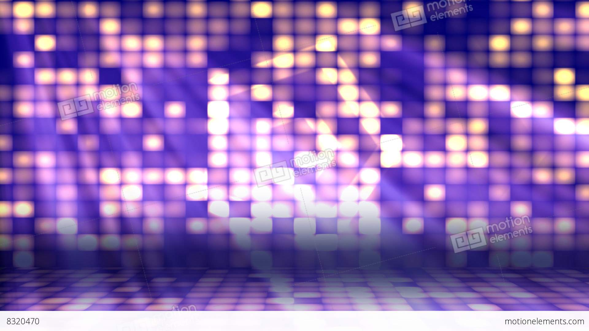 Dance Floor Lights 2 Loopable Background Stock Animation