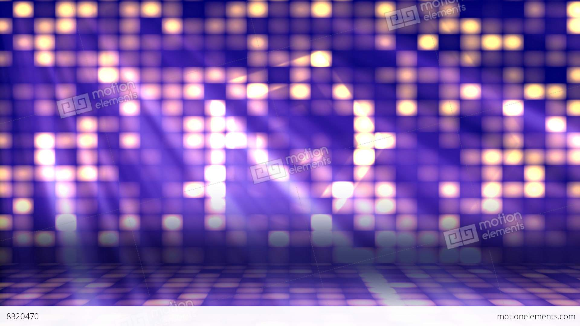 dance floor lights 2� loopable background stock animation