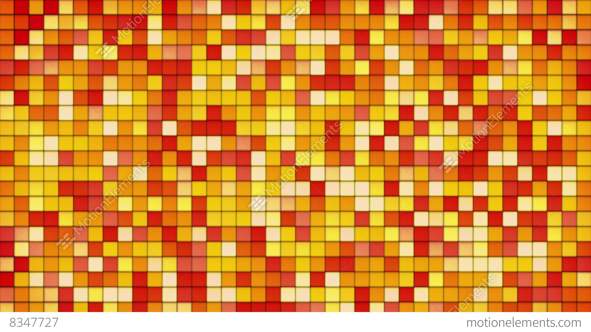 Orange Tiles Gl Mosaic Seamless Loop Background 4k Stock Video Footage