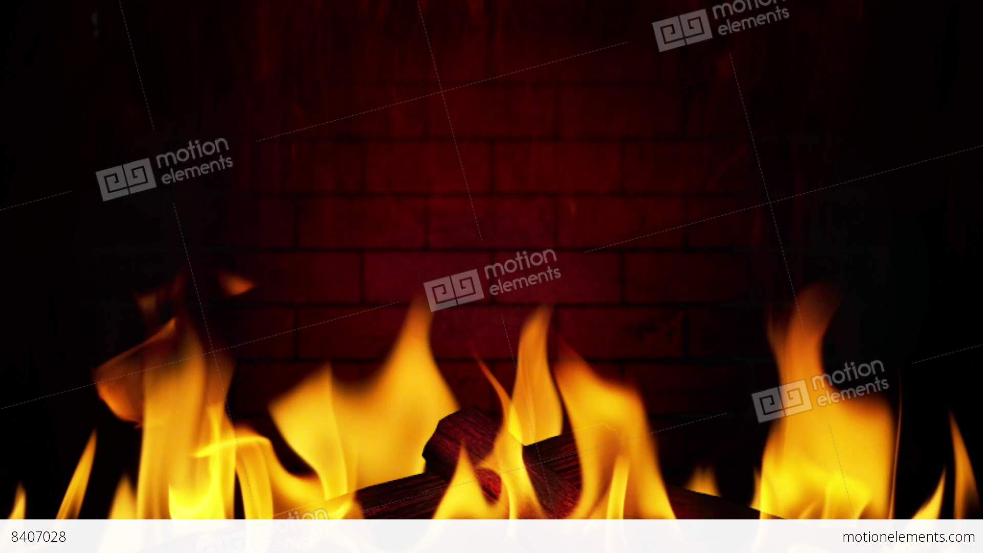 fireplace 01 flame smoke wood wall loop stock animation