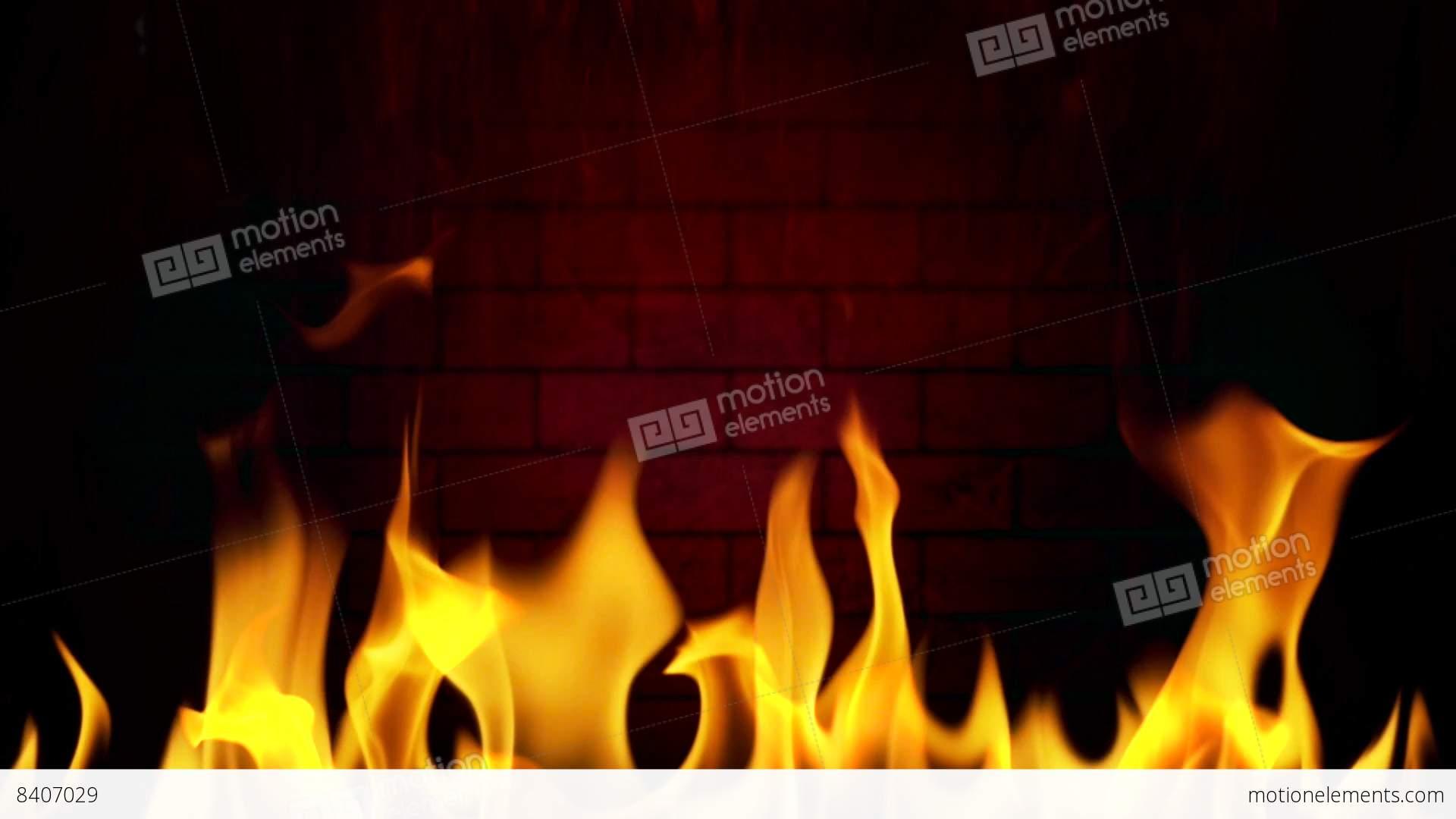fireplace 02 flame smoke wood loop stock animation 8407029