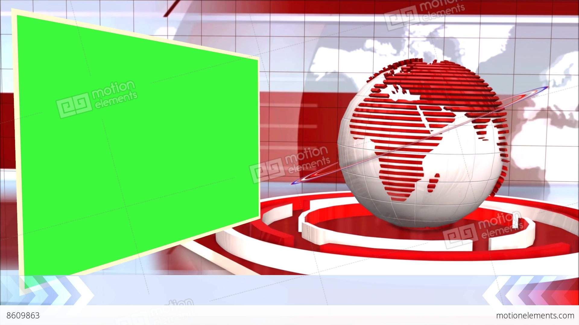 News Broadcast Background World Animation Green Screen Stock Video Footage