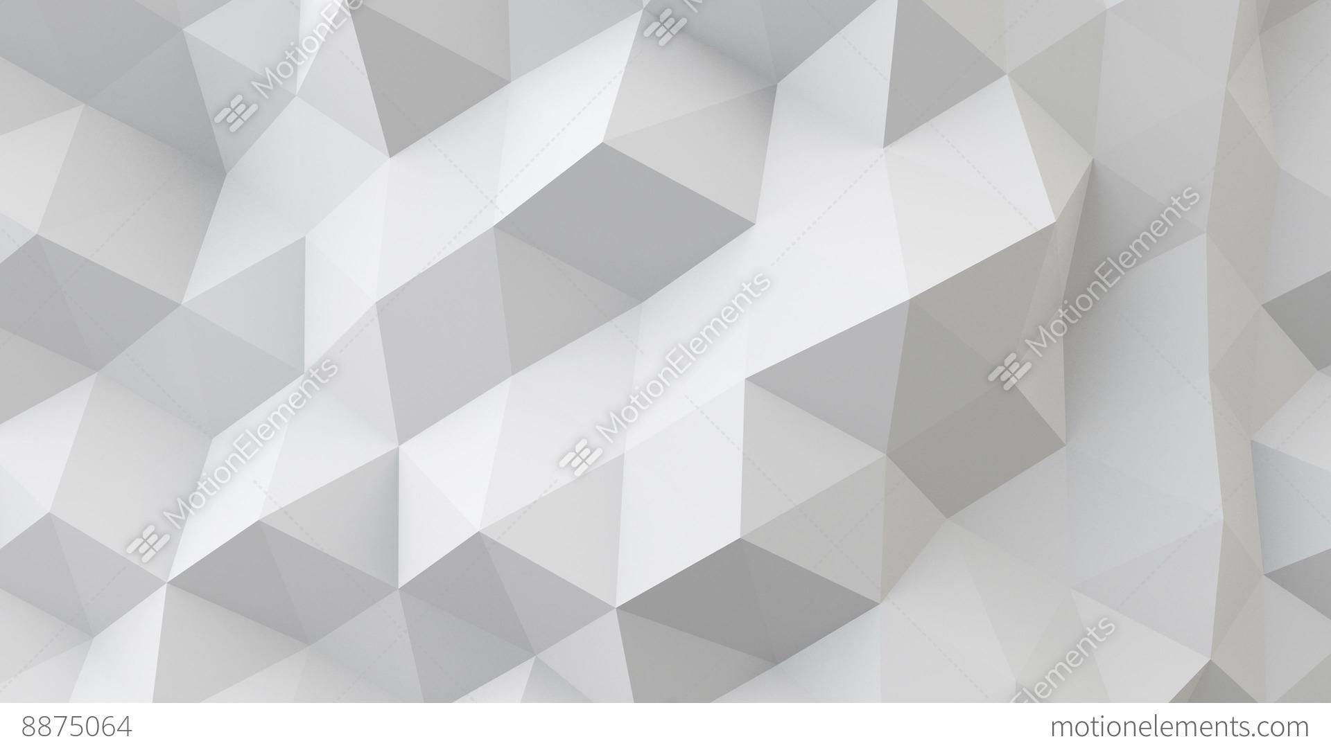 White Polygonal Geometric Surface Seamless Loop 4k UHD