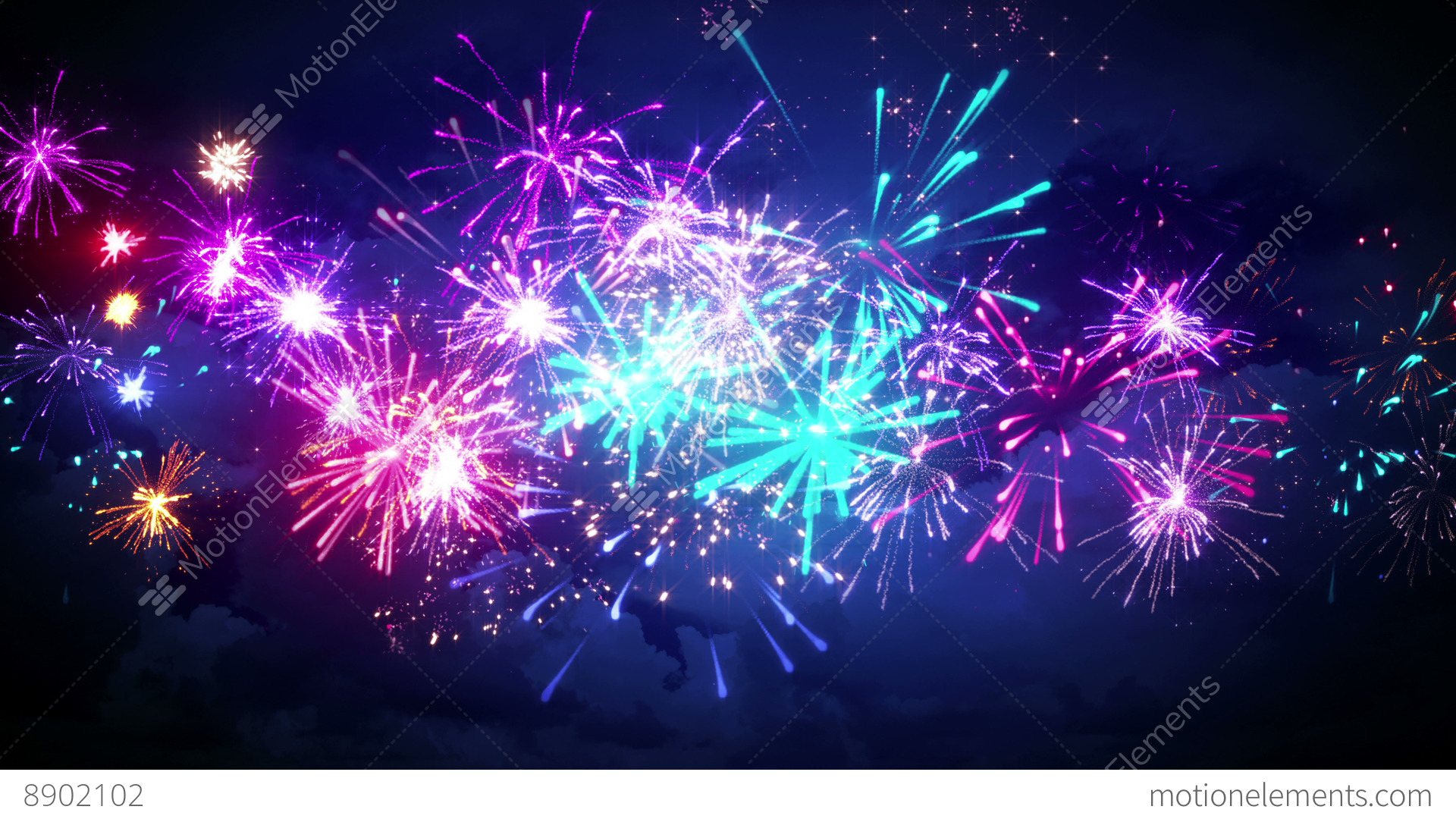 Flash Animated Fireworks