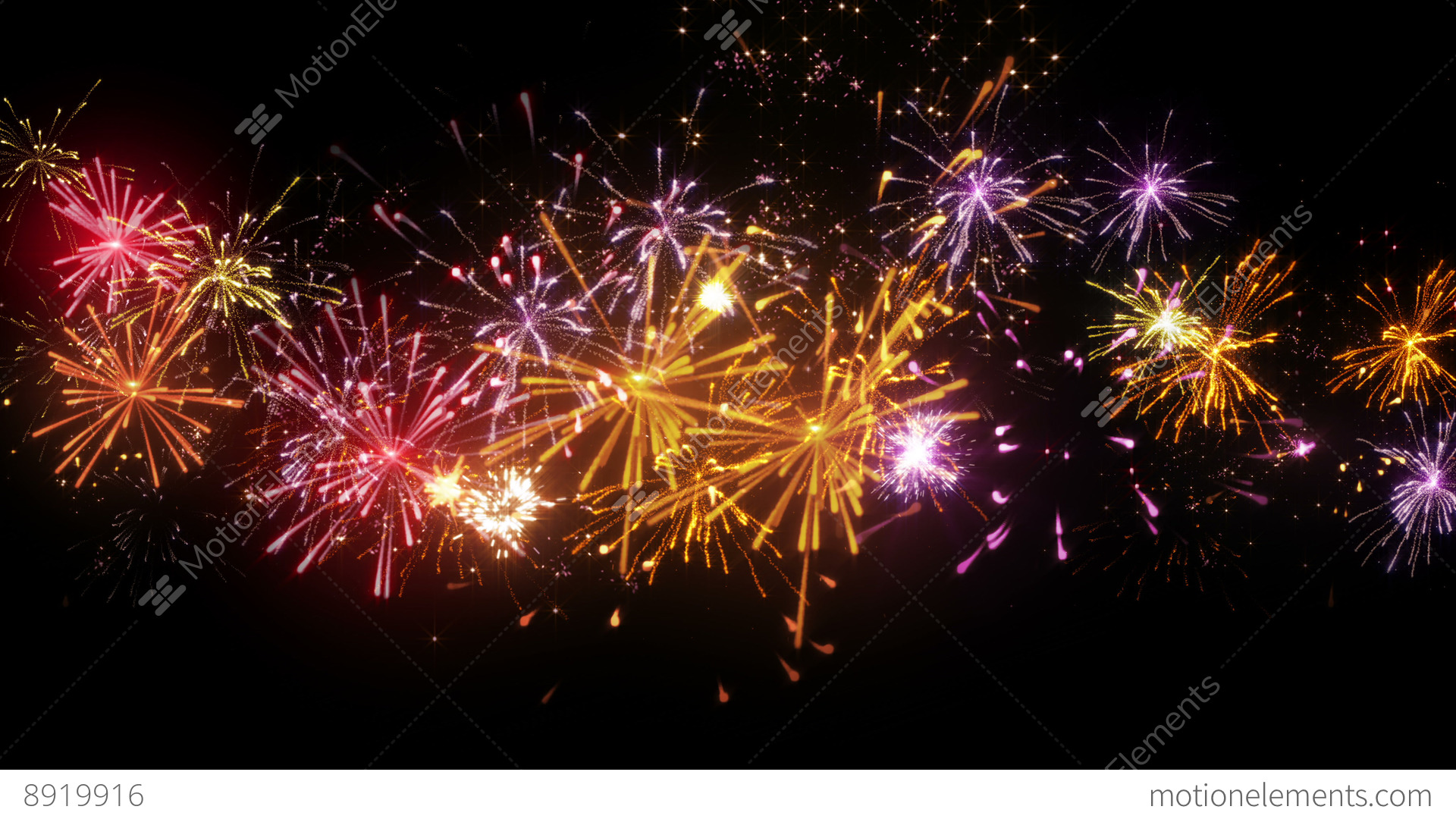Beautiful Fireworks Seamless Loop Animation 4k (4096x2304 ...