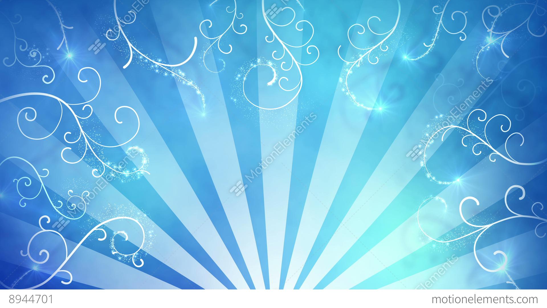 Blue Fancy Background Seamless Loop 4k 4096x2304 Stock Video Footage
