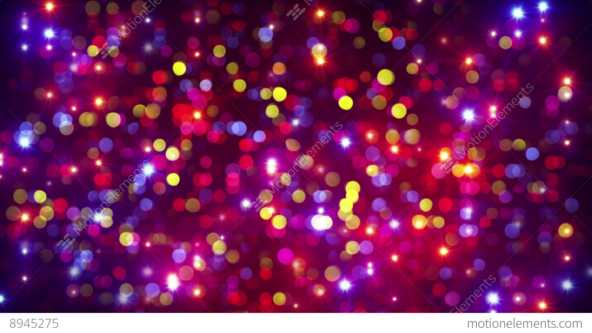 Disco Party Light Flashes And Bokeh Background Loop 4k