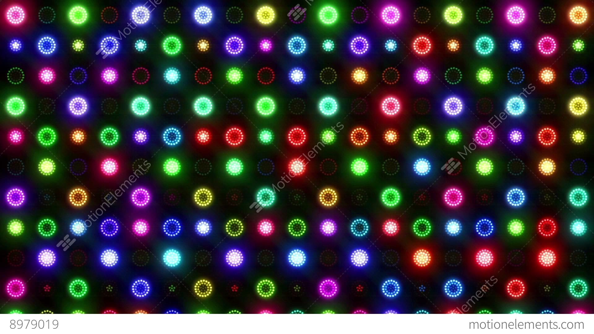 Christmas vj colorful lights flashing stage stock