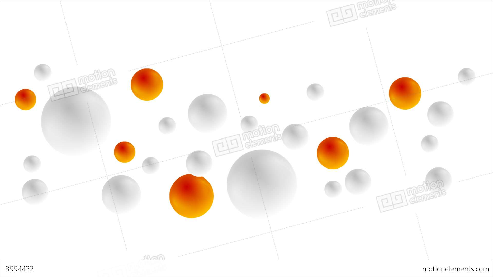 Grey And Orange Balls Animated Background Stock Animation ...