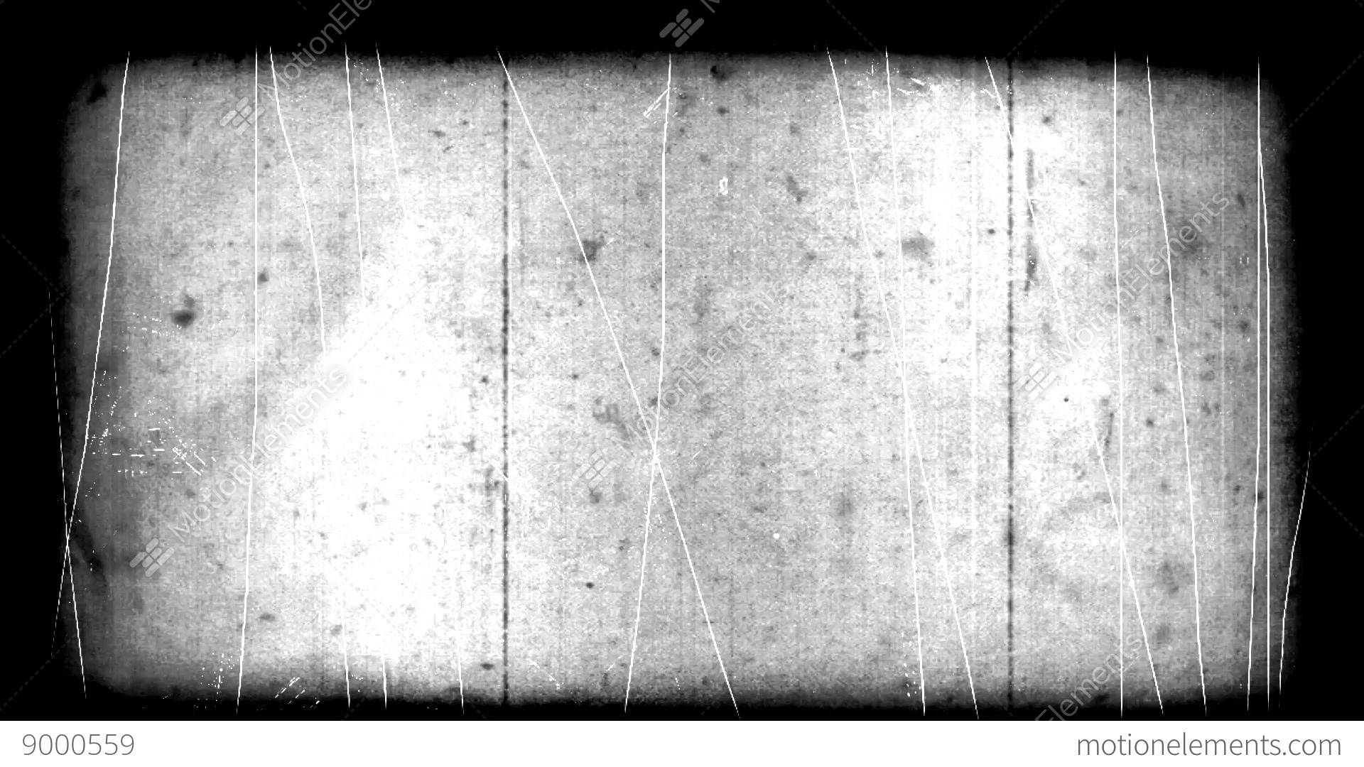 Very Old Film Look With Scratches And Border Stock Video Footage
