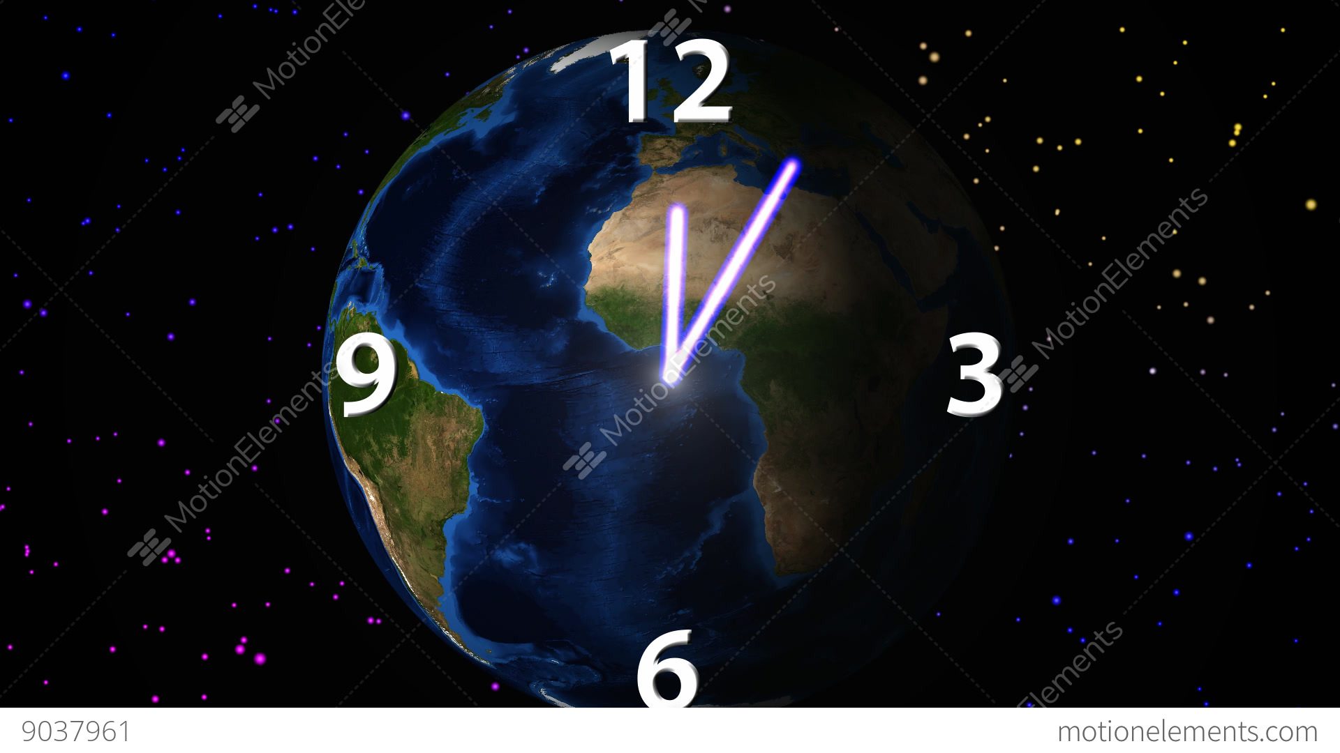 Background image rotate 90 - Time Passage On Rotating Earth Background Stock Video Footage