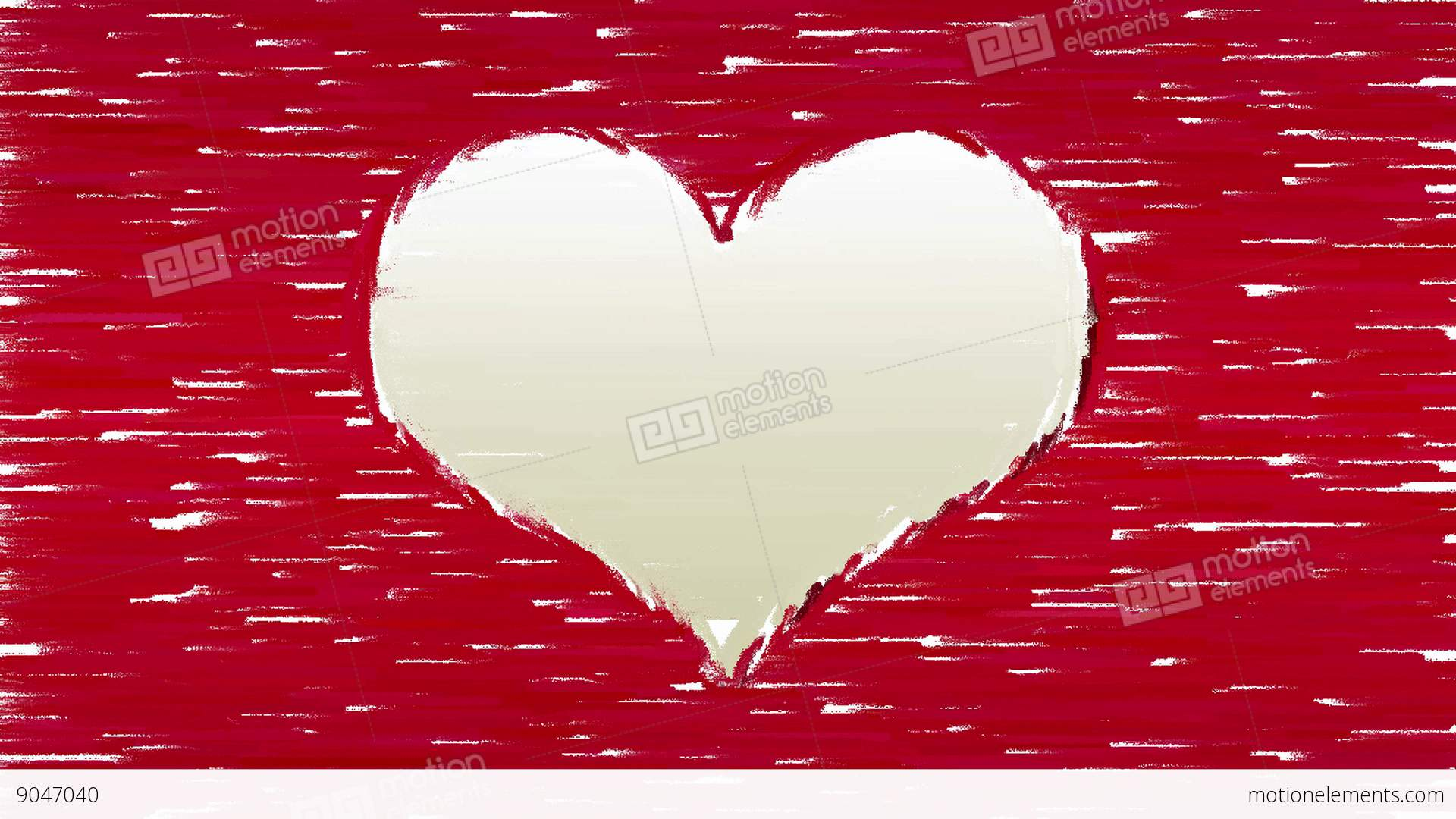 Paint Brush Strokes Forms Heart Symbol Stock Animation 9047040