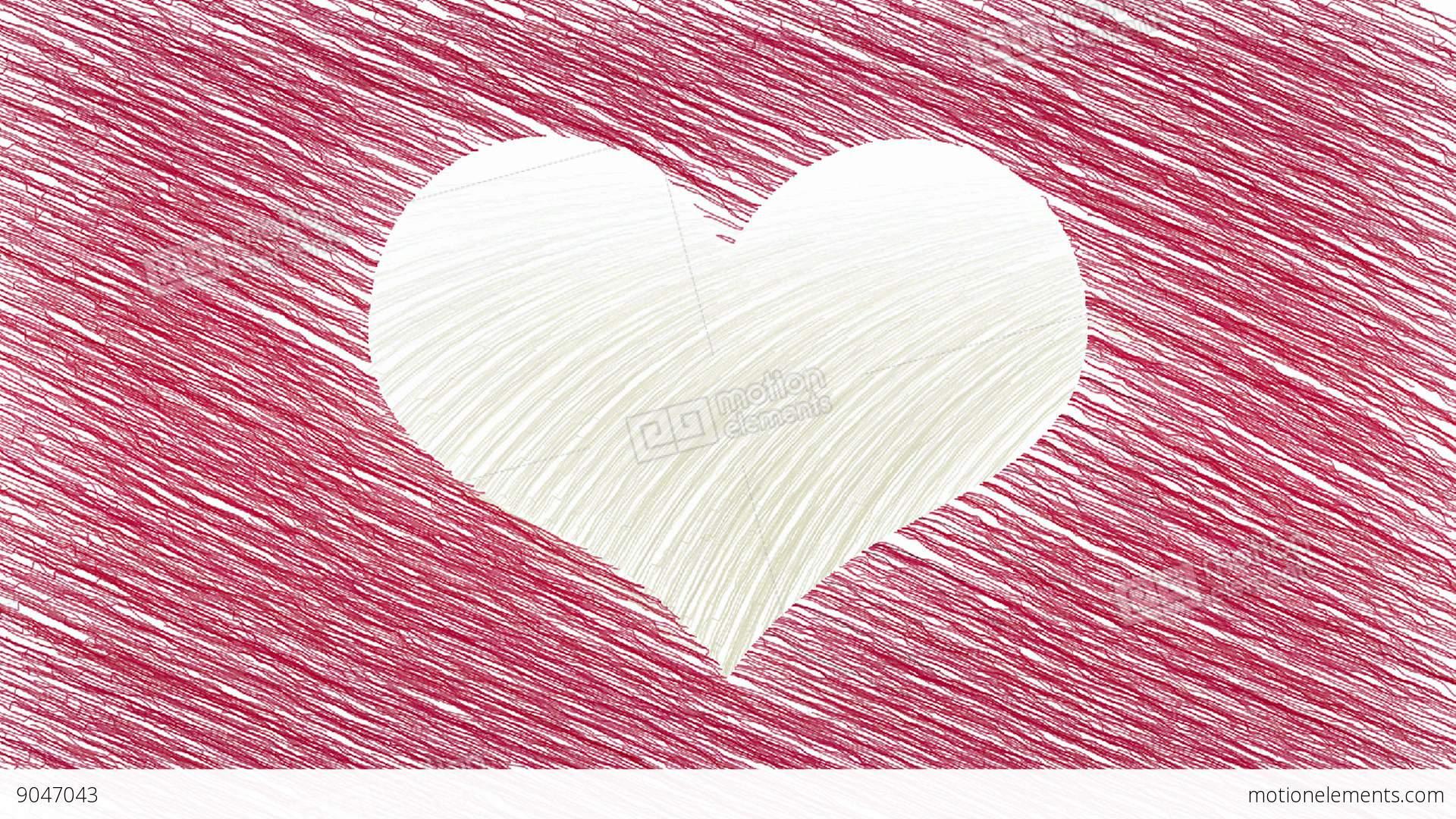 Drawing Heart Symbol Animation Stock Animation 9047043