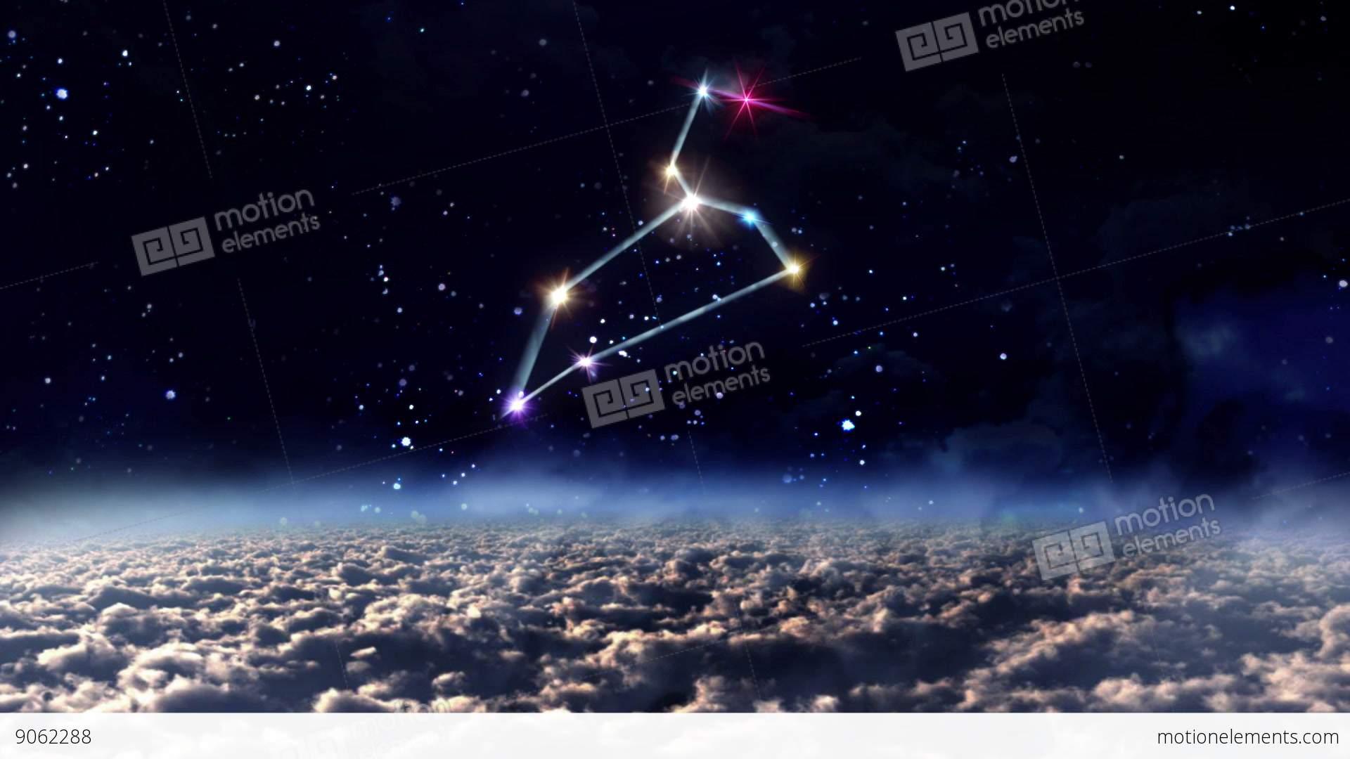 05 leo horoscopes of zodiac sign space stock animation | 9062288