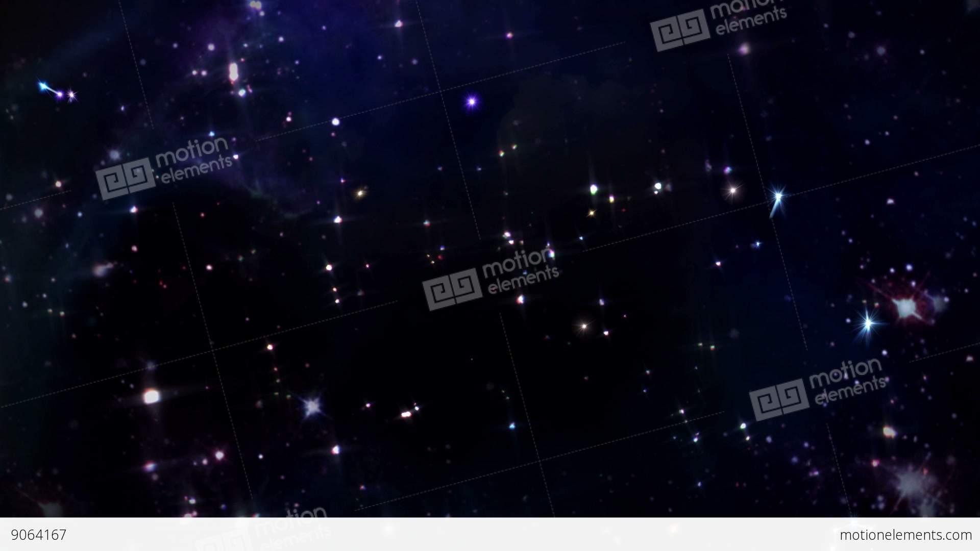 Twelve Horoscopes Zodiac Sign Star Space Sky Stock Animation - Space track