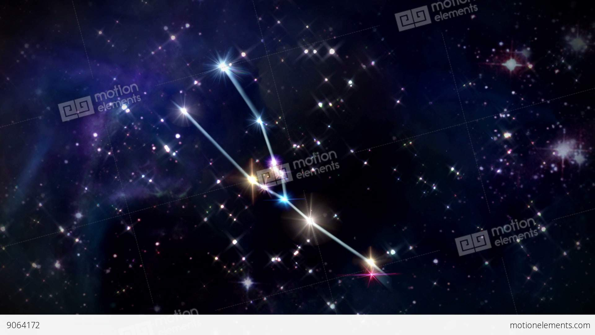 Taurus Horoscopes Space Track In Stock Animation - Space track